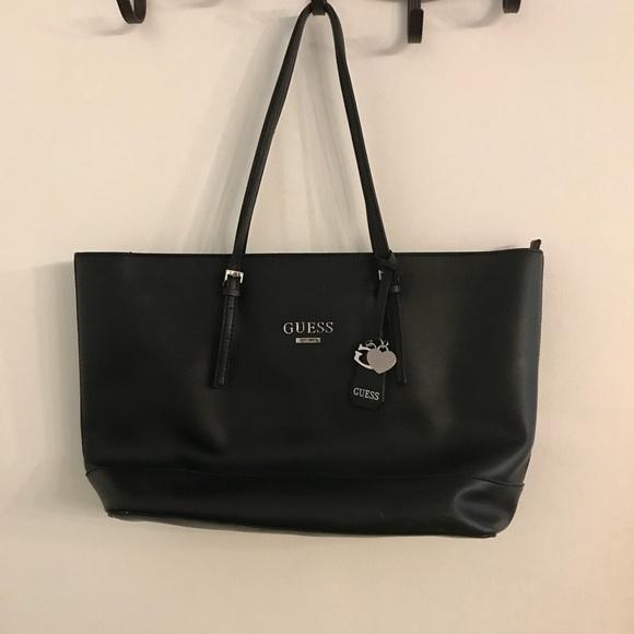 Guess black tote bag